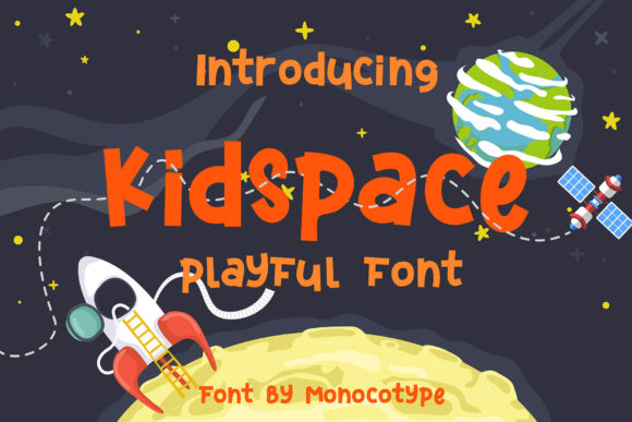 Print on Demand: Kidspace Display Font By monocotype
