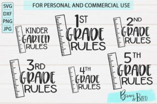 Kindergarten-5th Grade Rules SVG Set Graphic By Jessica Maike