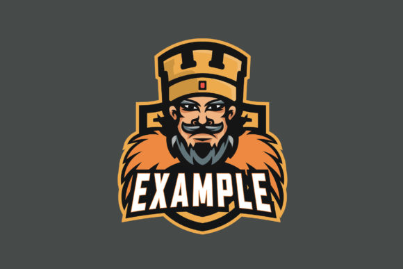 Print on Demand: King E-Sports Logo Graphic Logos By ovoz.graphics
