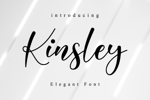 Print on Demand: Kinsley Script Script & Handwritten Font By NissaStudio