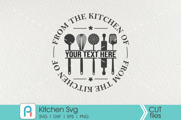 Kitchen Monogram Svg, Kitchen Svg Graphic Crafts By Pinoyartkreatib