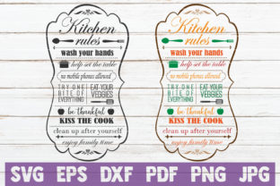 Kitchen Rules SVG Cut Files Graphic By MintyMarshmallows