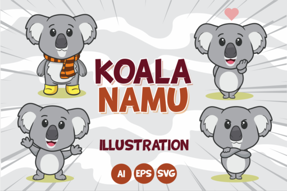 Print on Demand: Koala Namu Graphic Illustrations By fachranheit