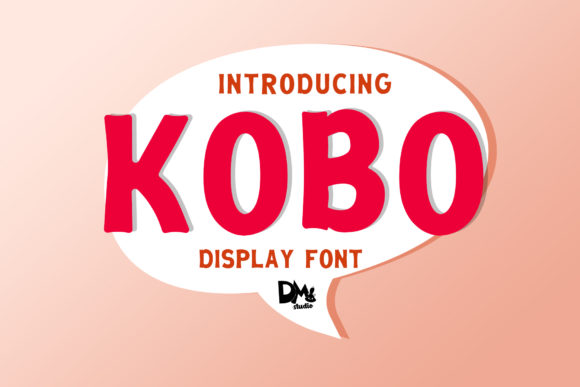 Print on Demand: Kobo Display Schriftarten von dmletter31
