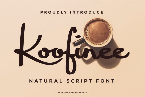 Print on Demand: Koofinee Script & Handwritten Font By letter battoyart