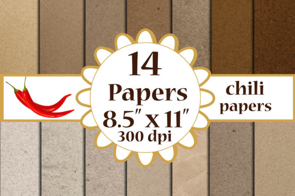Kraft Digital Papeers, Craft Papers A4 Graphic Crafts By ChiliPapers