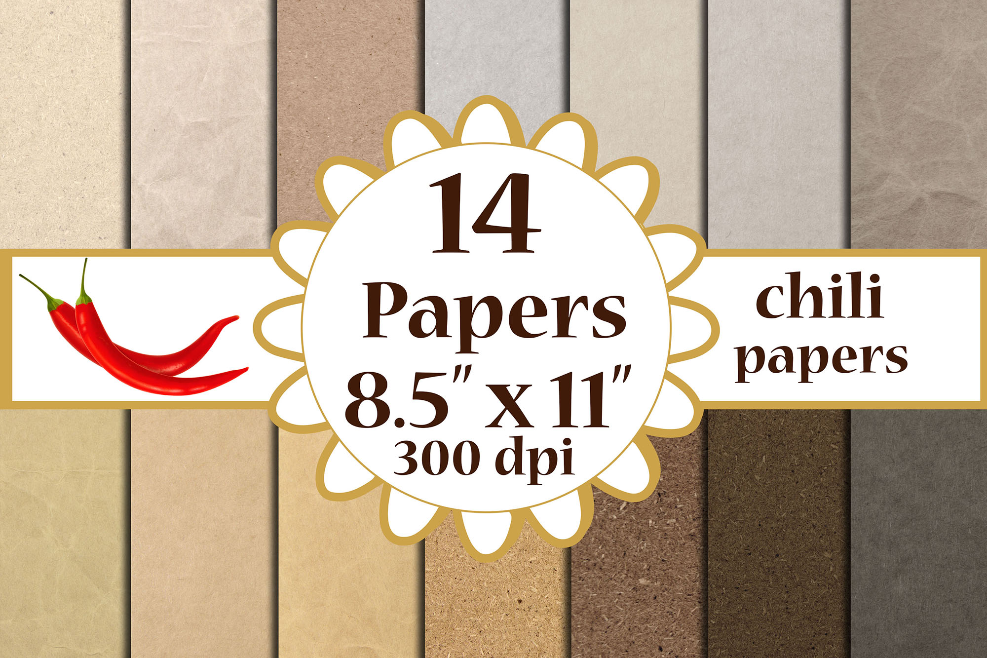 Download Free Kraft Digital Papeers Craft Papers A4 Graphic By Chilipapers SVG Cut Files