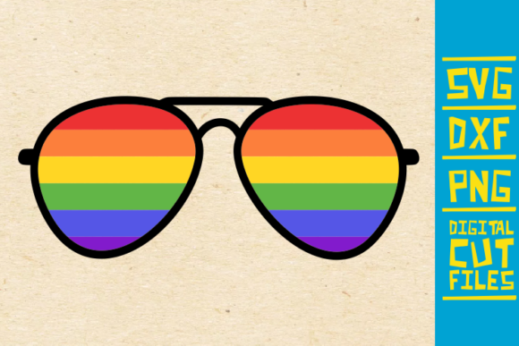 Download Free Lgbt Glasses Graphic By Svgyeahyouknowme Creative Fabrica SVG Cut Files