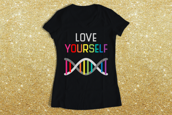 LGBT Love Yourself Rainbow Graphic Crafts By DesignedByGeeks
