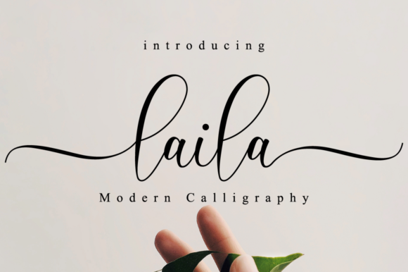 Print on Demand: Laila Script Script & Handwritten Font By NissaStudio