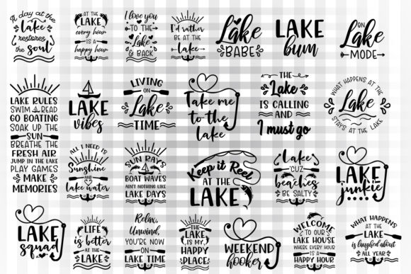 Lake Svg Bundle Graphic By Illustrator Guru
