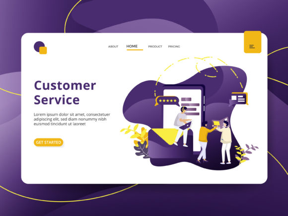 Landing Page Customer Service Graphic Illustrations By Twiri
