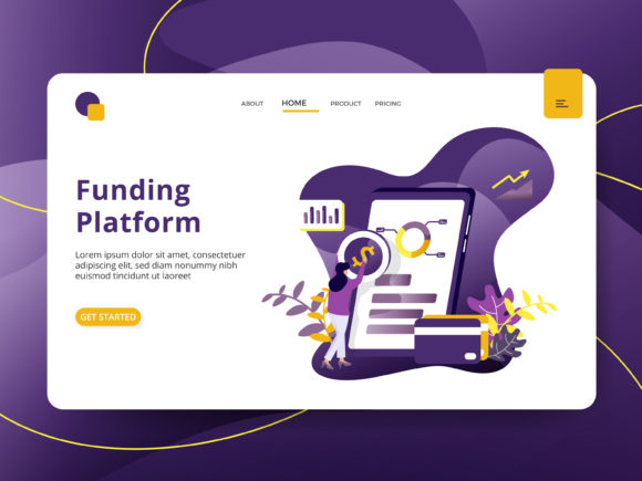 Landing Page Funding Platform Graphic Illustrations By Twiri