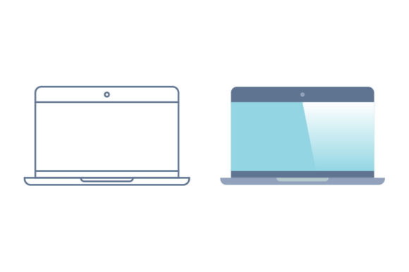 Laptop Line/Color Icons Graphic By DonMarciano