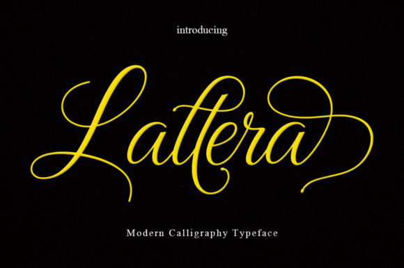 Print on Demand: Lattera Script & Handwritten Font By Rudistudio