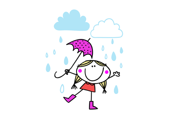 Laugh in the Rain Graphic Illustrations By carrtoonz - Image 1