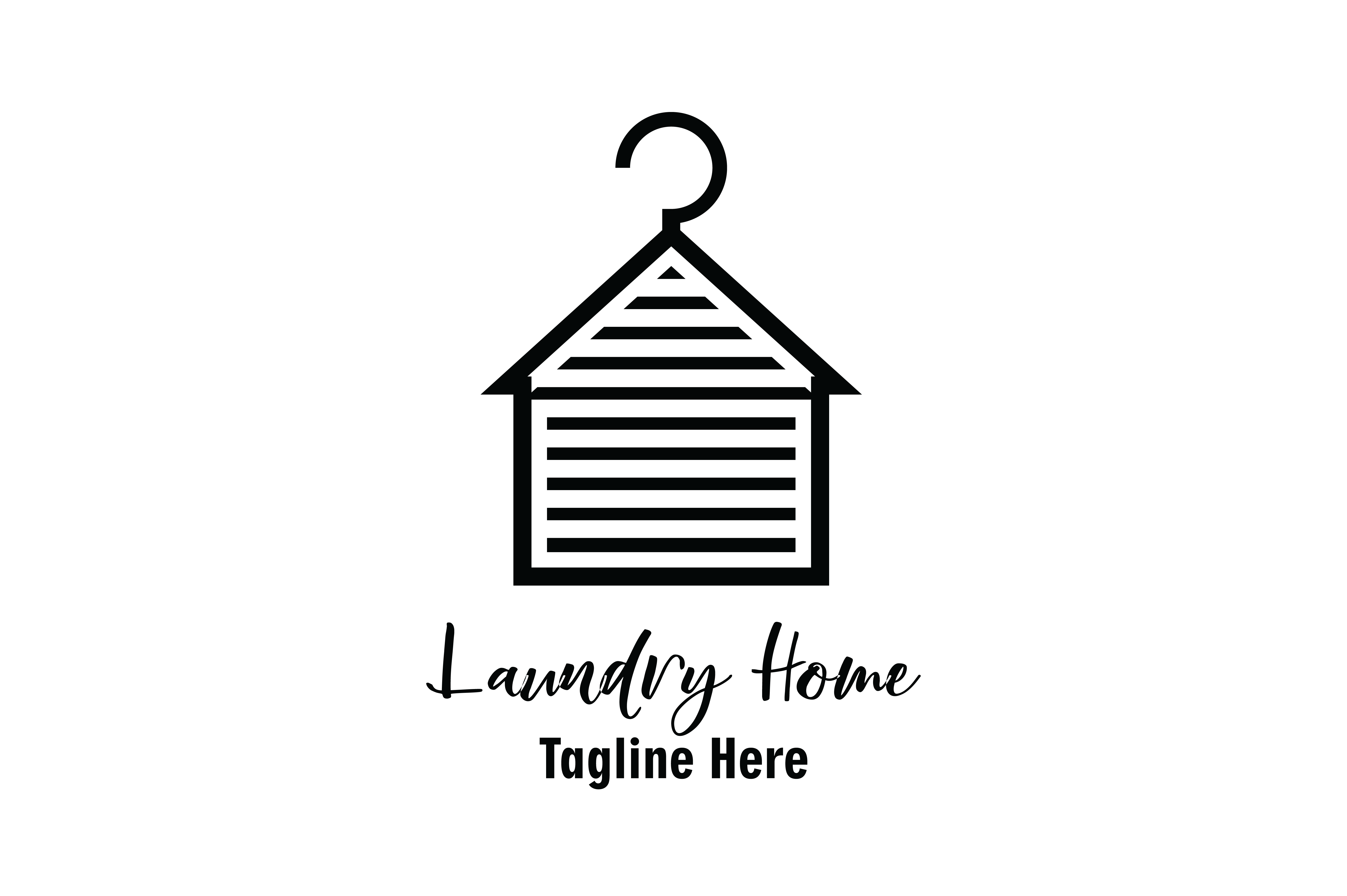 Download Free Laundry Home Logo Vector Graphic By Yuhana Purwanti Creative for Cricut Explore, Silhouette and other cutting machines.