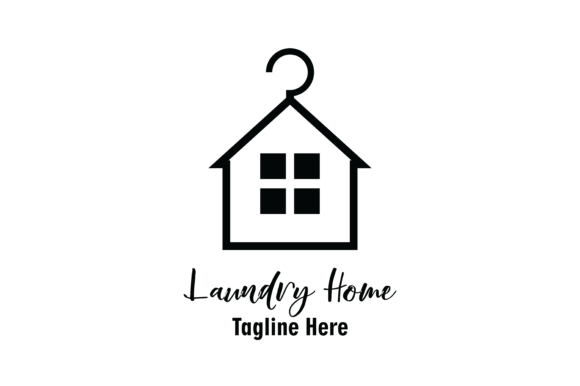Laundry Home Logo Vector Graphic By Yuhana Purwanti Creative