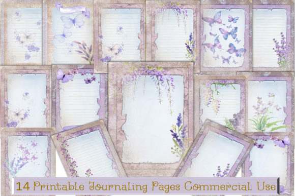 Print on Demand: Lavender Background Papers Graphic Crafts By The Paper Princess