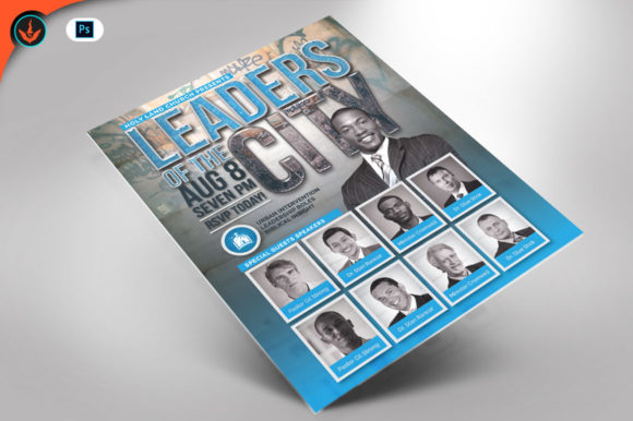 Leaders of the City Flyer Template Graphic By seraphimchris