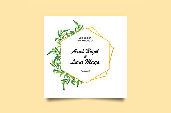 Download Free Wedding Invitation Template Graphic By Bint Studio Creative Fabrica for Cricut Explore, Silhouette and other cutting machines.