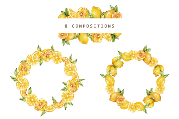 Print on Demand: Lemonade Watercolor Set Graphic Illustrations By Typia Nesia - Image 7