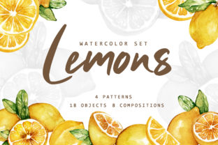 Lemonade Watercolor Set Graphic By Typia Nesia