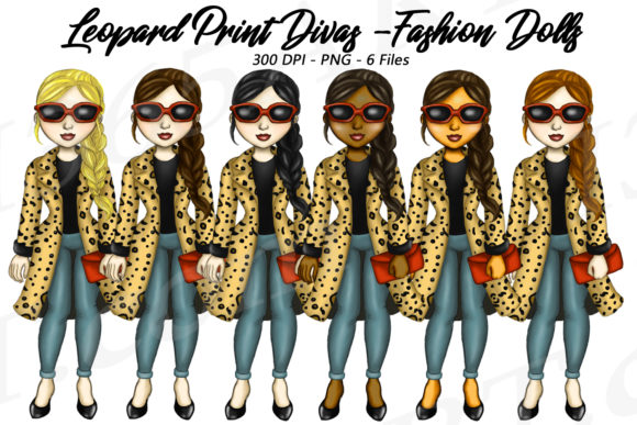 Leopard Print Fashion Girls Graphic Illustrations By Deanna McRae