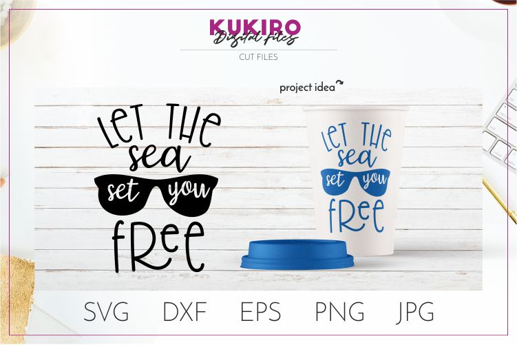 Download Free Let The Sea Set You Free Svg Graphic By Kukiro Creative Fabrica for Cricut Explore, Silhouette and other cutting machines.