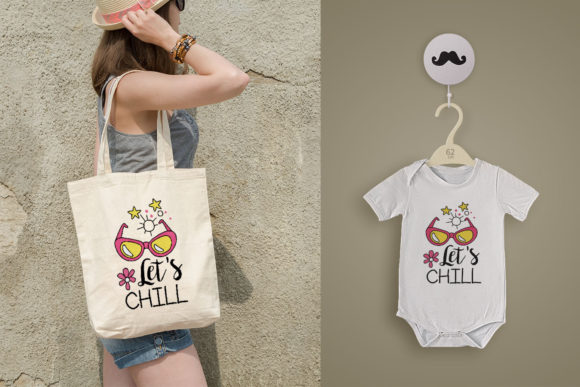 Let'S Chill Graphic Print Templates By Skull and Rose