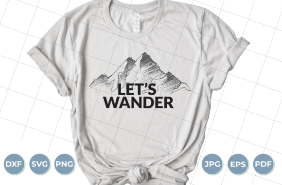 Let's Wander Graphic Crafts By luxedesignartetsy