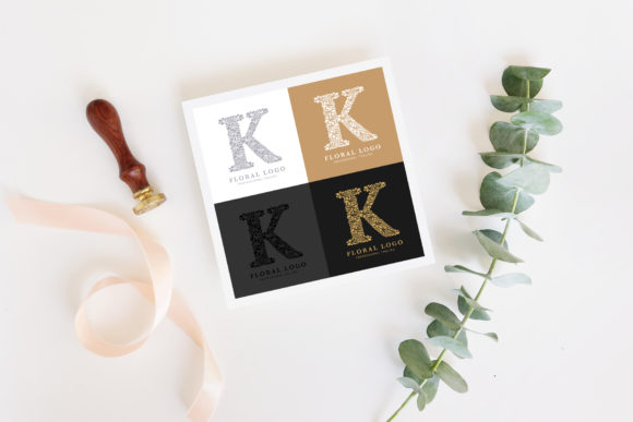 Letter K - Floral Logo Template Graphic Logos By Textures - Image 2