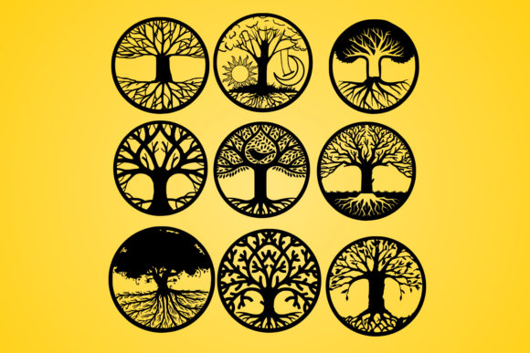 Download Free Life Of Tree Tree Silhouette Vector Graphic By Johanruartist for Cricut Explore, Silhouette and other cutting machines.