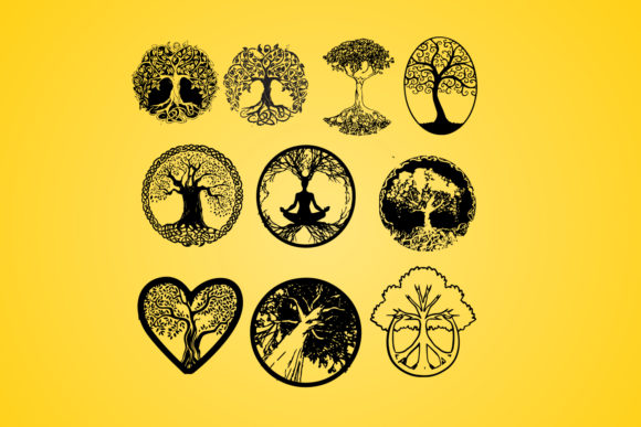 Download Free Life Of Tree Tree Silhouette Vector Graphic By Johanruartist Creative Fabrica for Cricut Explore, Silhouette and other cutting machines.