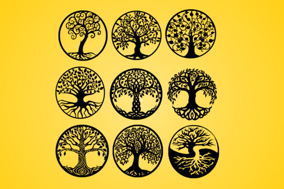 Print on Demand: Life of Tree,Tree,vector,silhouette Graphic Graphic Templates By johanruartist