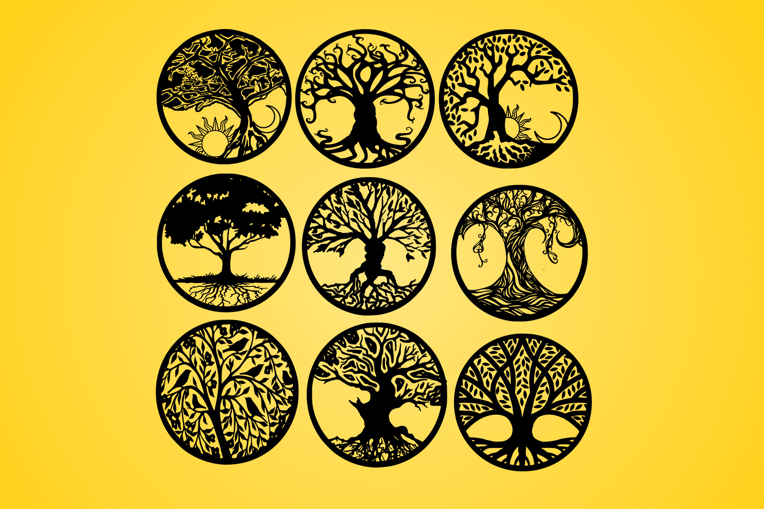 Download Free Life Of Tree Tree Tattoo Silhouette Graphic By Johanruartist for Cricut Explore, Silhouette and other cutting machines.