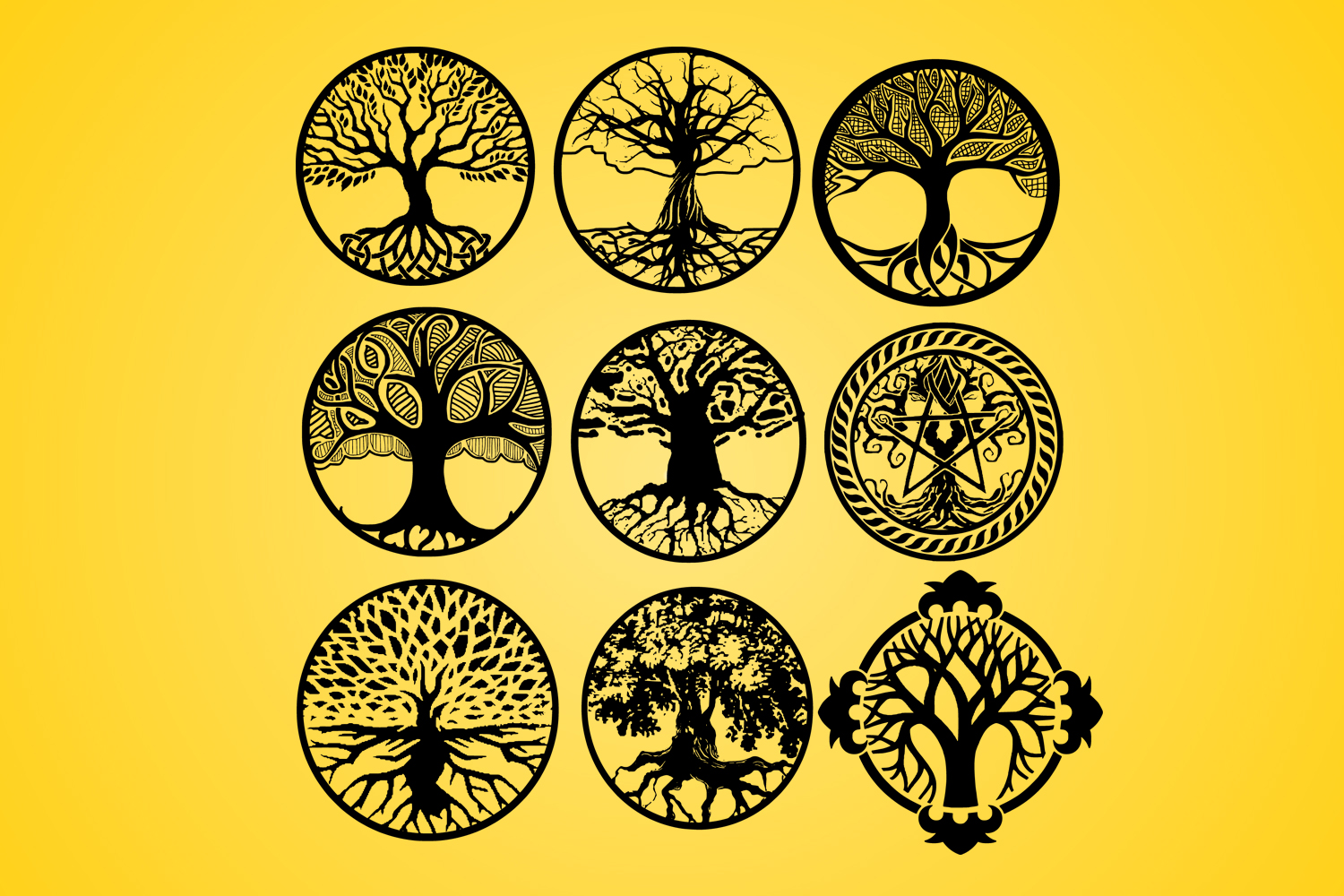 Download Free Life Of Tree Tree Vector Silhouette Graphic By Johanruartist for Cricut Explore, Silhouette and other cutting machines.