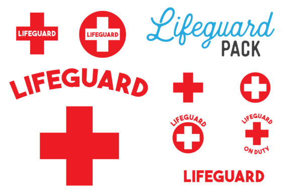 Print on Demand: Lifeguard SVG Clipart Bundle Graphic Objects By The Gradient Fox