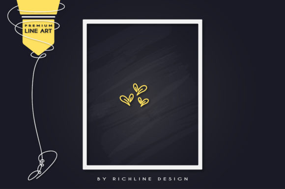 Download Free Line Art Poster Three Love Graphic By Richline Design Creative for Cricut Explore, Silhouette and other cutting machines.