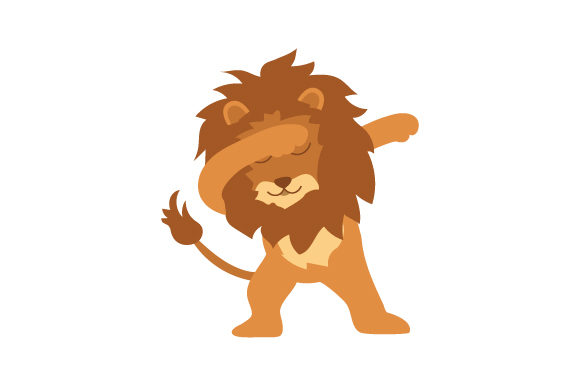 Download Free Lion Dabbing Svg Cut File By Creative Fabrica Crafts Creative for Cricut Explore, Silhouette and other cutting machines.