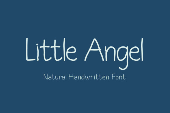 Print on Demand: Little Angel Script & Handwritten Font By sabrcreative
