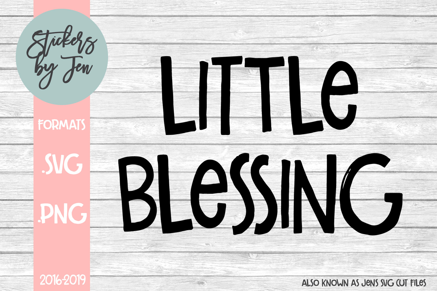 Download Free Little Blessing Graphic By Stickers By Jennifer Creative Fabrica for Cricut Explore, Silhouette and other cutting machines.