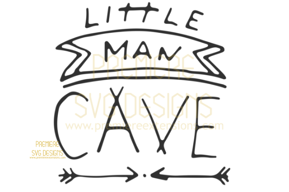 Print on Demand: Little Man Cave SVG Graphic Crafts By premiereextensions