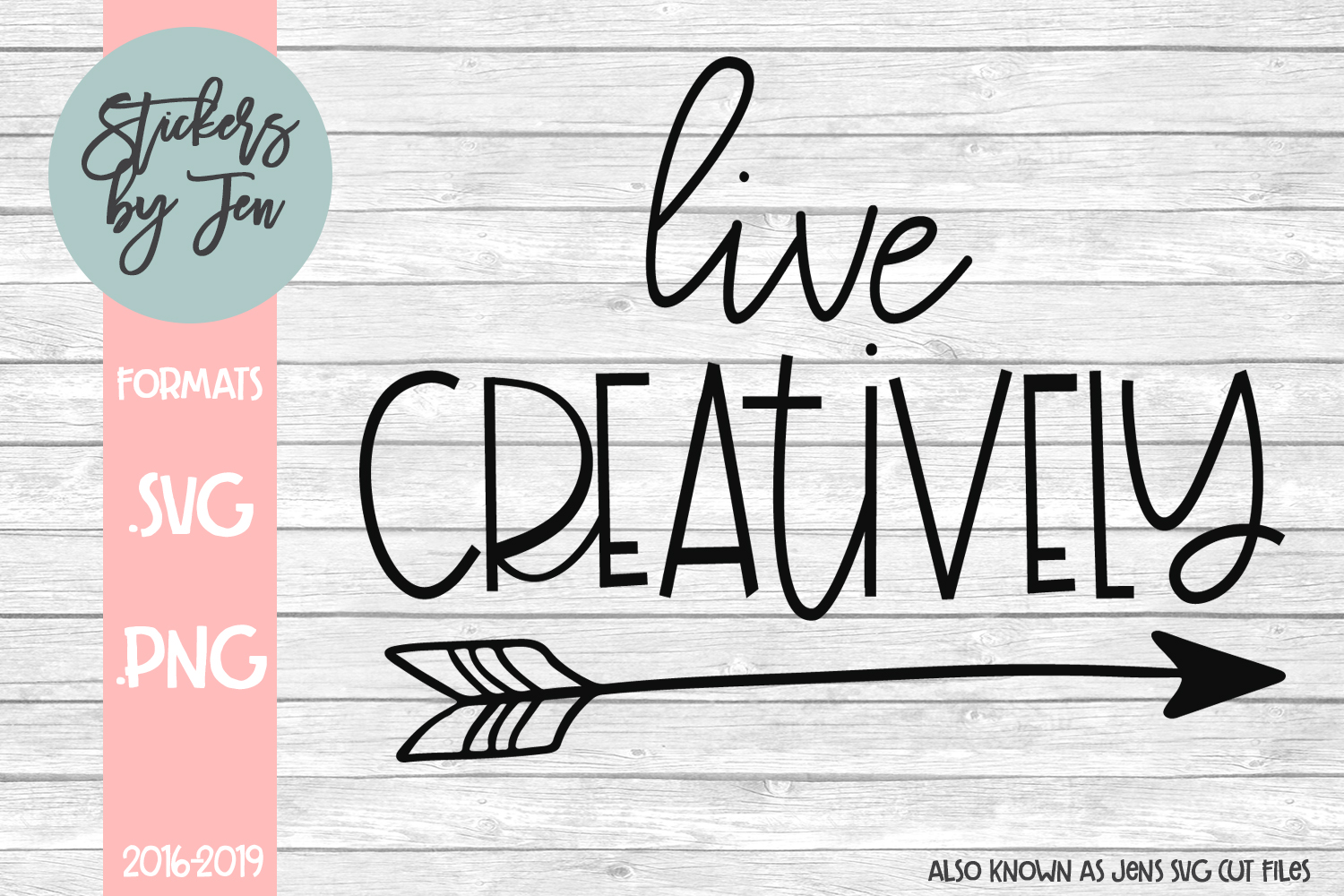 Download Free Live Creatively Graphic By Stickers By Jennifer Creative Fabrica for Cricut Explore, Silhouette and other cutting machines.