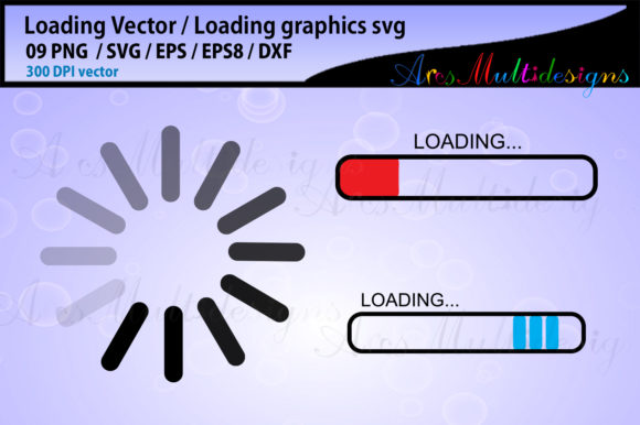 Download Free Loading Loading Vector Load Icon Graphic By Arcs Multidesigns Creative Fabrica for Cricut Explore, Silhouette and other cutting machines.