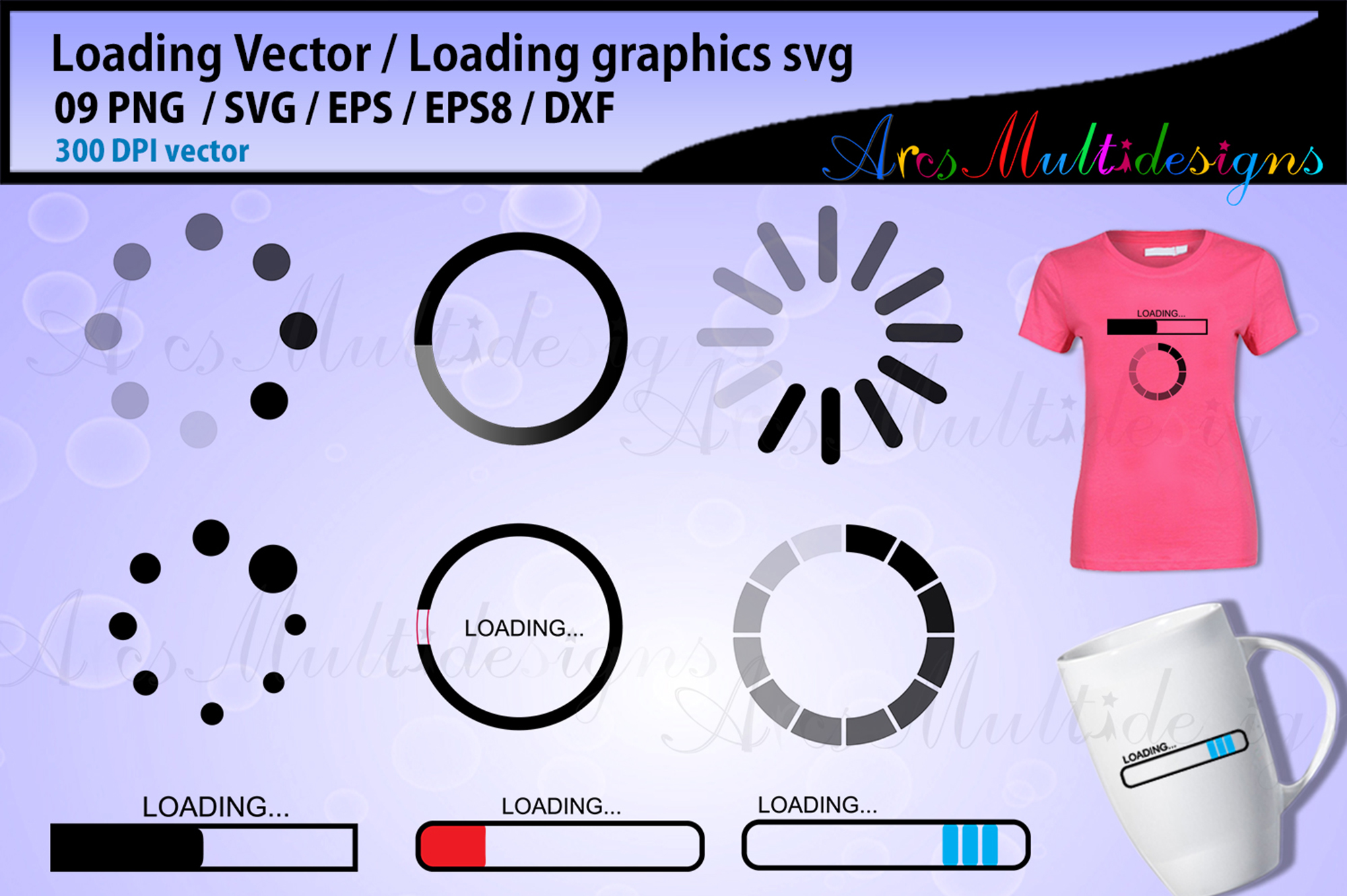 Download Free Loading Loading Vector Load Icon Graphic By Arcs Multidesigns for Cricut Explore, Silhouette and other cutting machines.