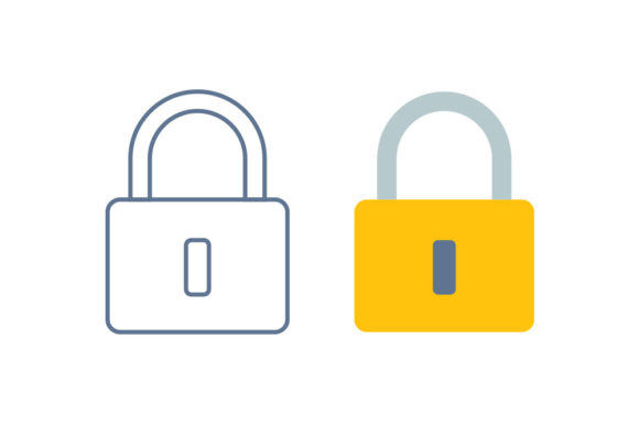 Lock Line/Color Icon Graphic By DonMarciano
