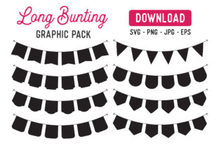 Long Bunting Banner Vector Clipart Pack Graphic By The Gradient Fox