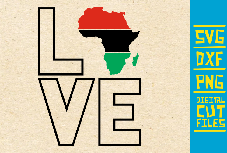 Love Africa Svg Roots Black Woman Graphic By