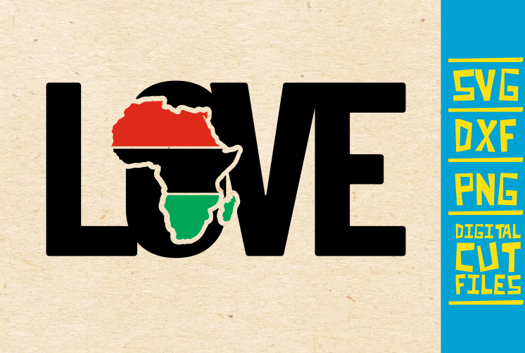 Download Free Love Africa Vector Roots Black Girl Graphic By for Cricut Explore, Silhouette and other cutting machines.